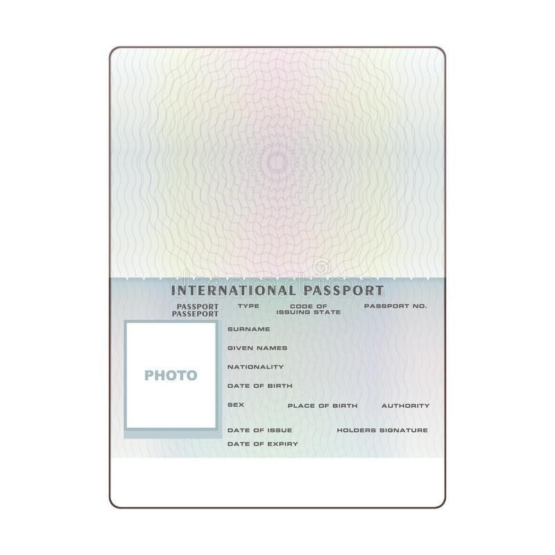 Vector International Open Passport Blank Template Stock Vector ...