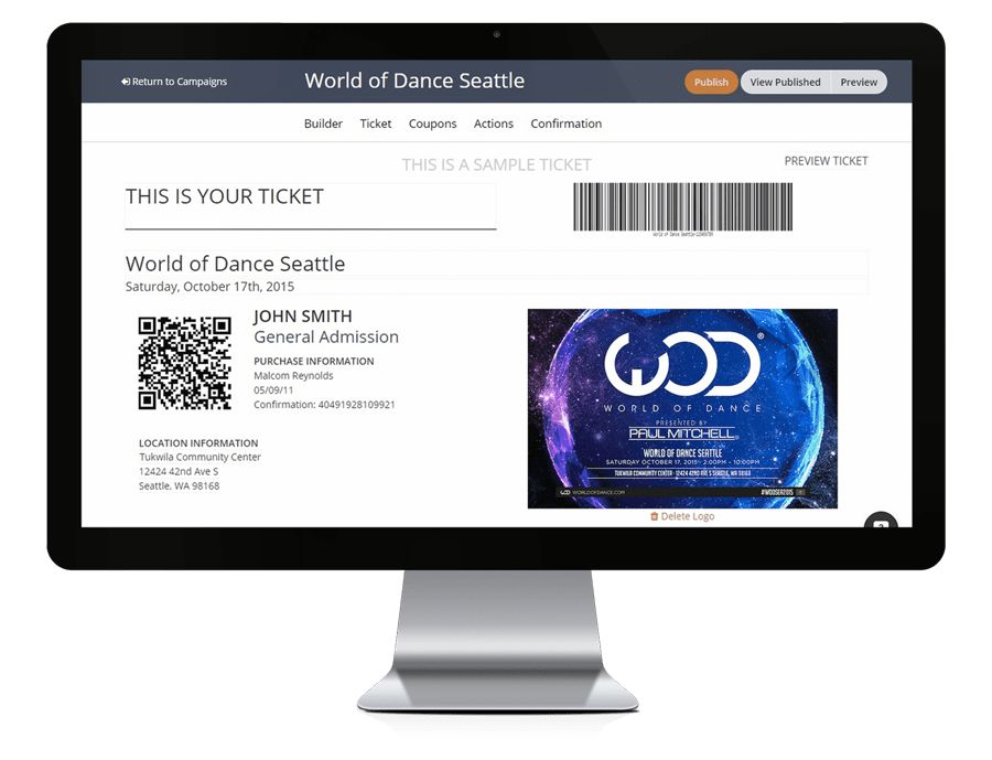 Custom Branded Online Event Ticketing System