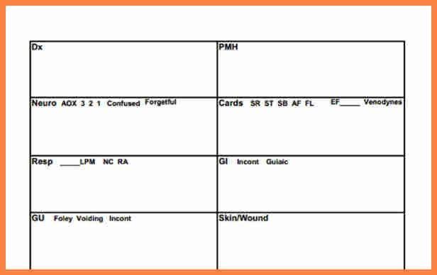 7+ nurse report sheet template | Invoice Example 2017