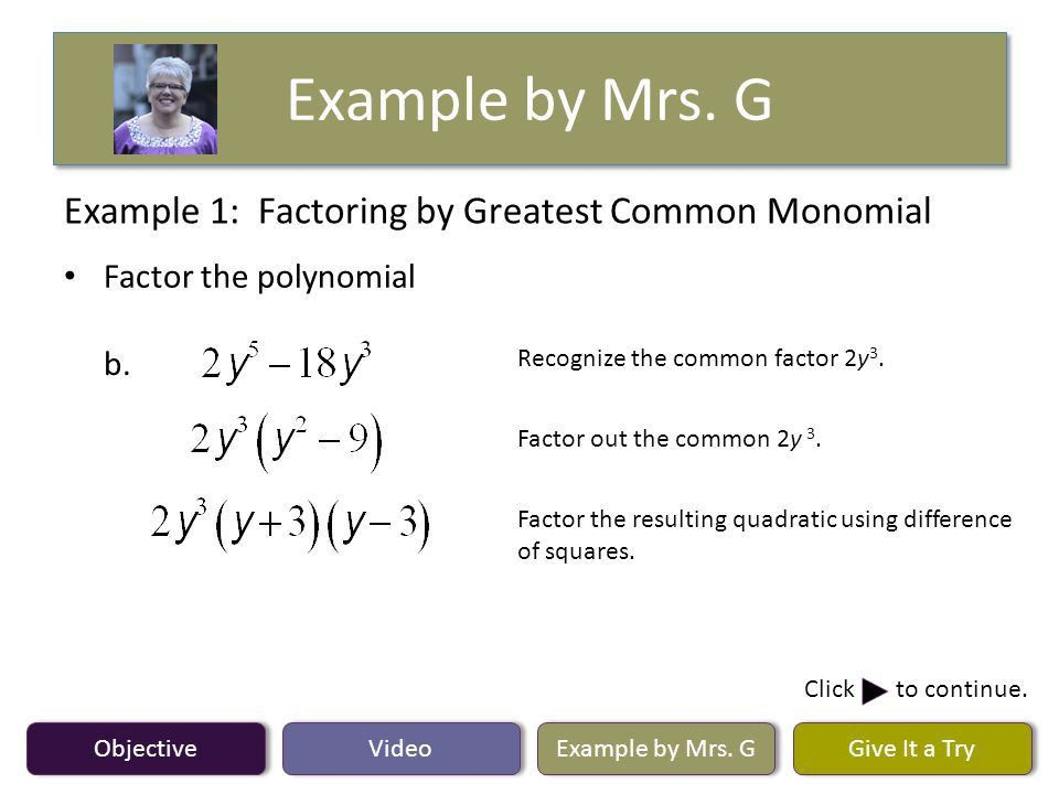 Objective Video Example by Mrs. G Give It a Try Lesson 6.4 ...
