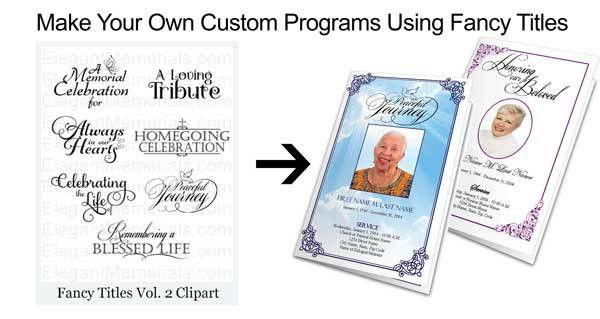 Funeral Program Fonts | Good Font for Memorial Programs