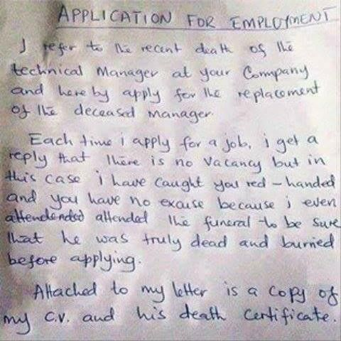 See Latest Application Letter Written By An Applicant - Jobs ...