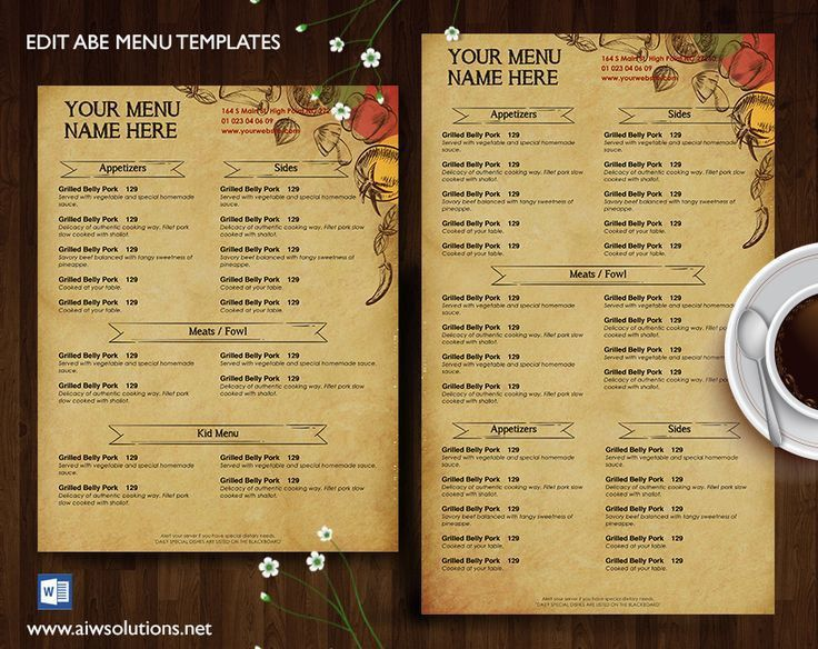 Best 25+ Menu design templates ideas on Pinterest | Menu design ...