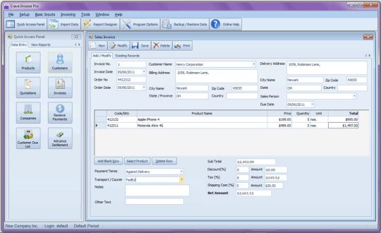 Download Invoice PRO Software Free