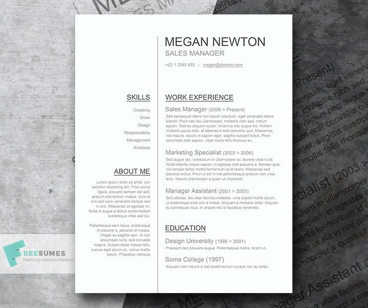 Plain and Simple – A Basic Resume Template Giveaway