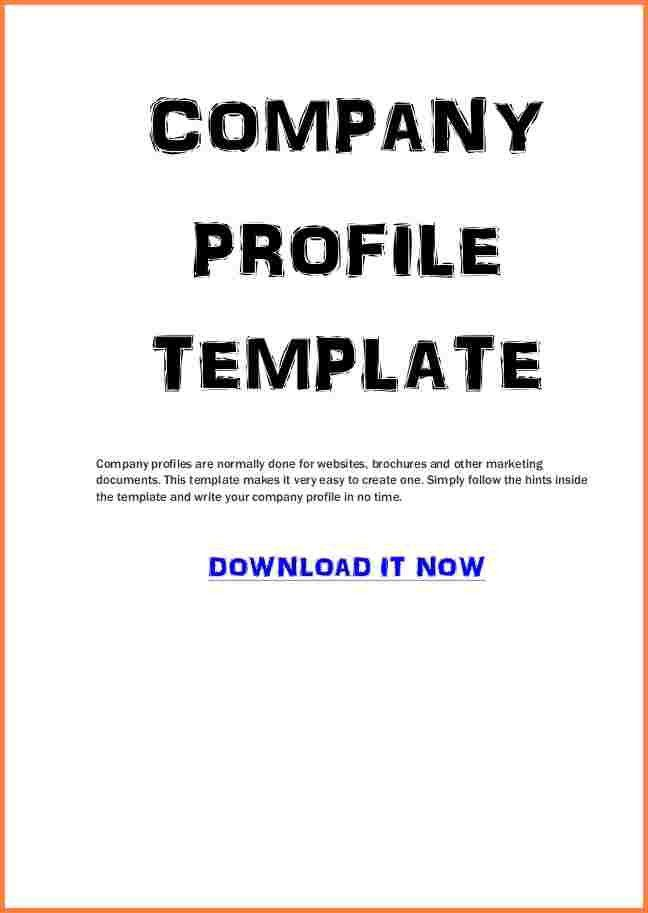 Business Profiles Samples [Template.billybullock.us ]