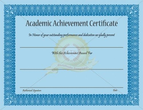 20 best Achievement Certificate Templates images on Pinterest ...