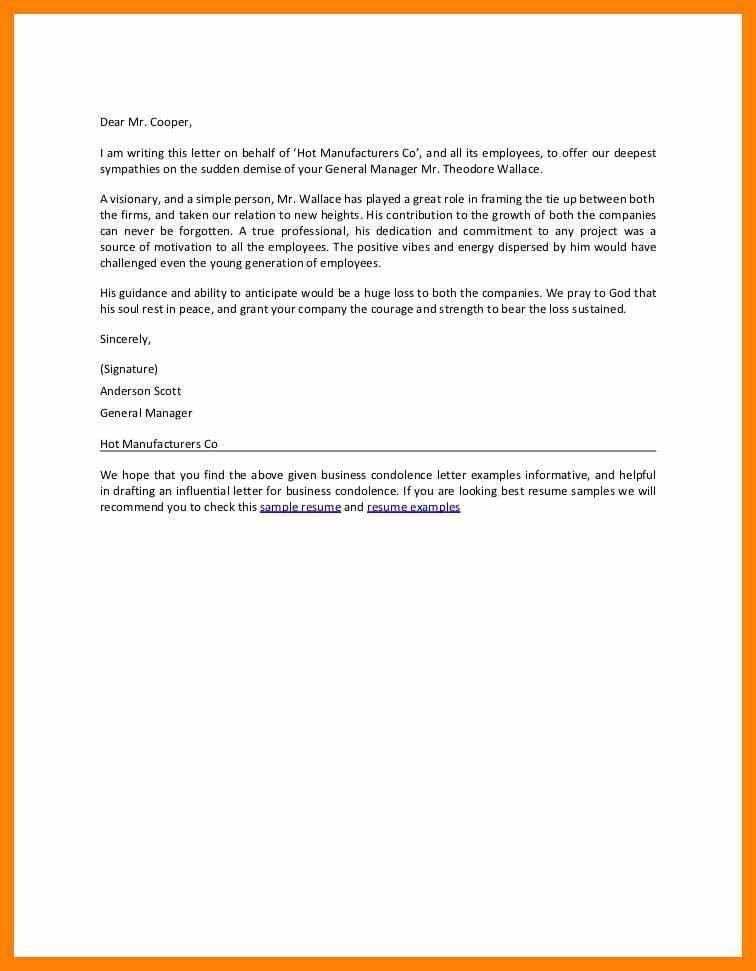 Condolence Letter. Condolence Letter Death Sample Templates Sample ...