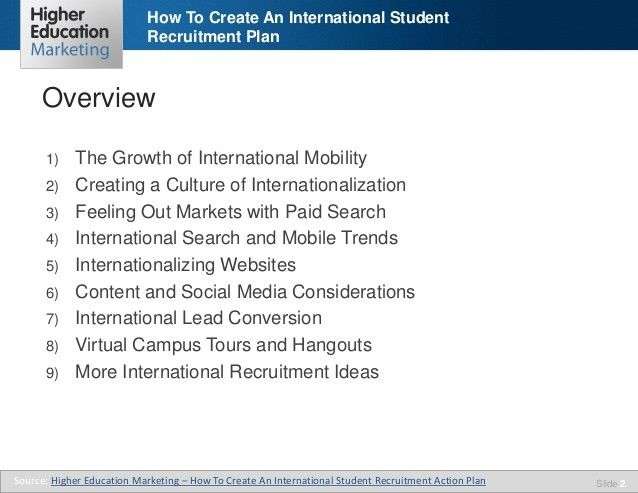 How to create an international student recruitment plan