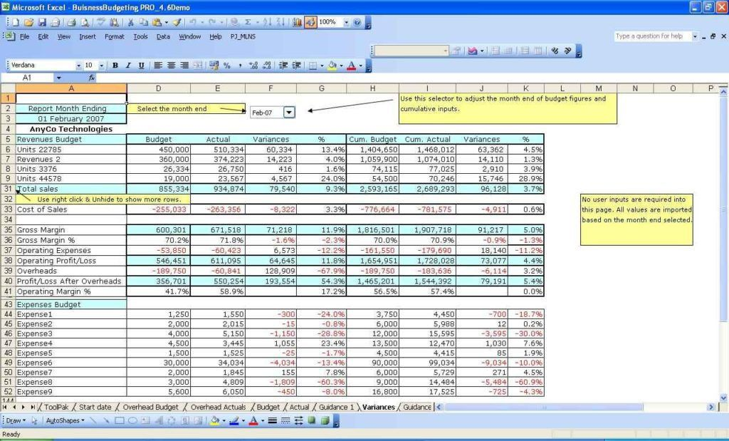 Budget Excel Template Personal Budget Spreadsheet Template For – Budget Worksheet Excel