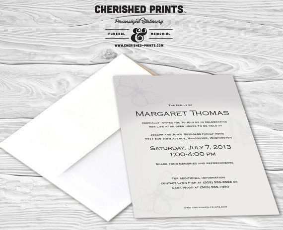 31 best Invitations, Announcements, and Mourning Cards images on ...