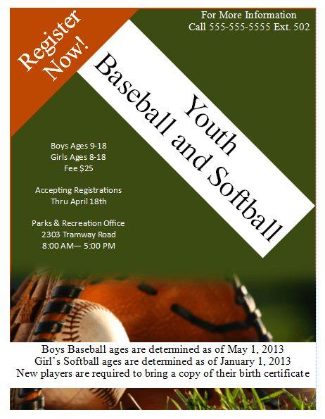 Baseball Flyer Template – Publisher Flyer Templates