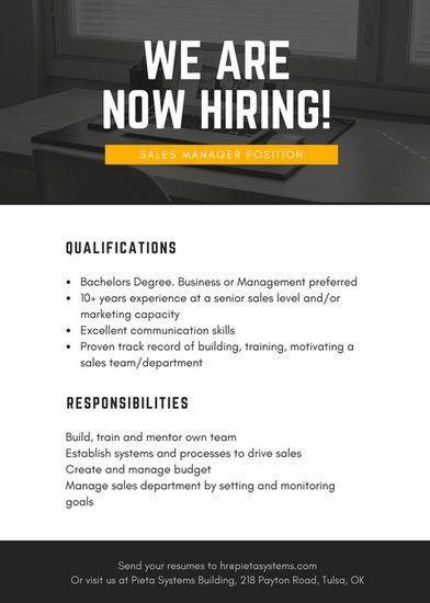 Job Vacancy Announcement Templates - Canva