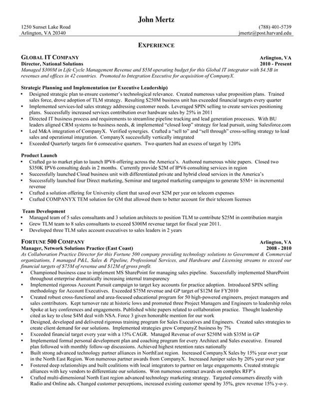 Resume Results | Ivy Exec