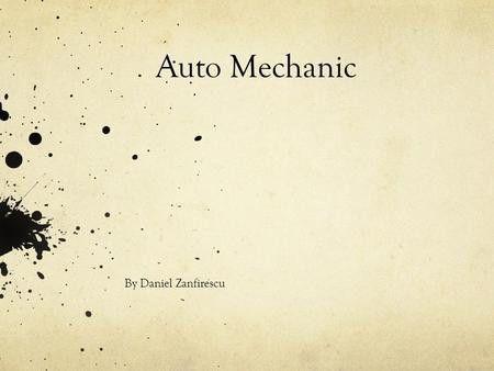 Mechanic Angel. Job Description Maintains service operations by ...