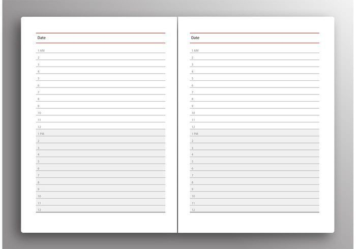 Daily Planner Vector - Download Free Vector Art, Stock Graphics ...