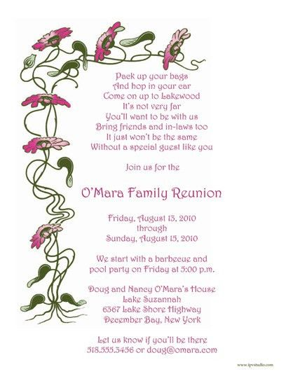 Family Reunion Invitations Template | Best Template Collection