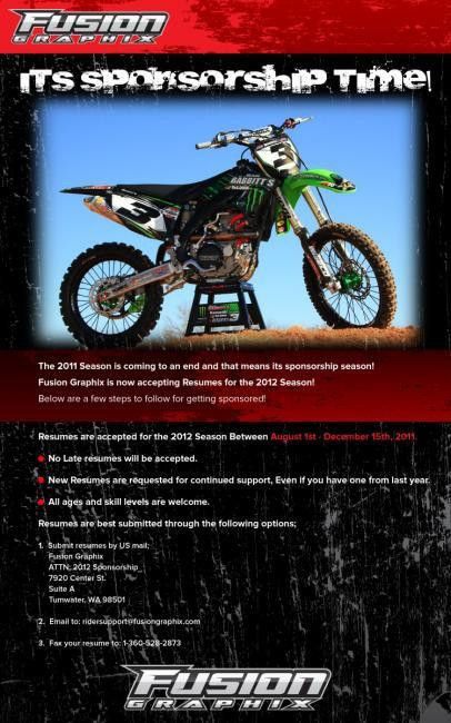 Fusion Graphix Accepting Resumes for 2012 Season - Racer X Online