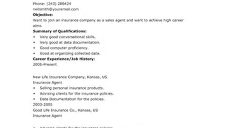 insurance agent job description for resume objective summary of ...