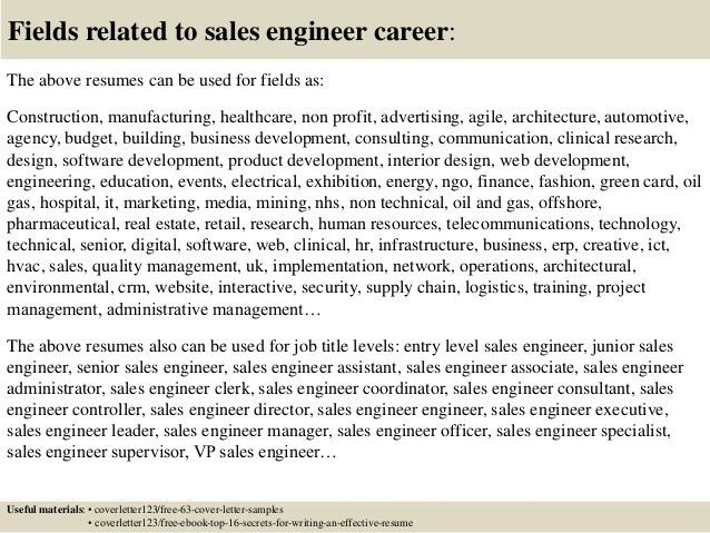 Top 5 sales engineer cover letter samples
