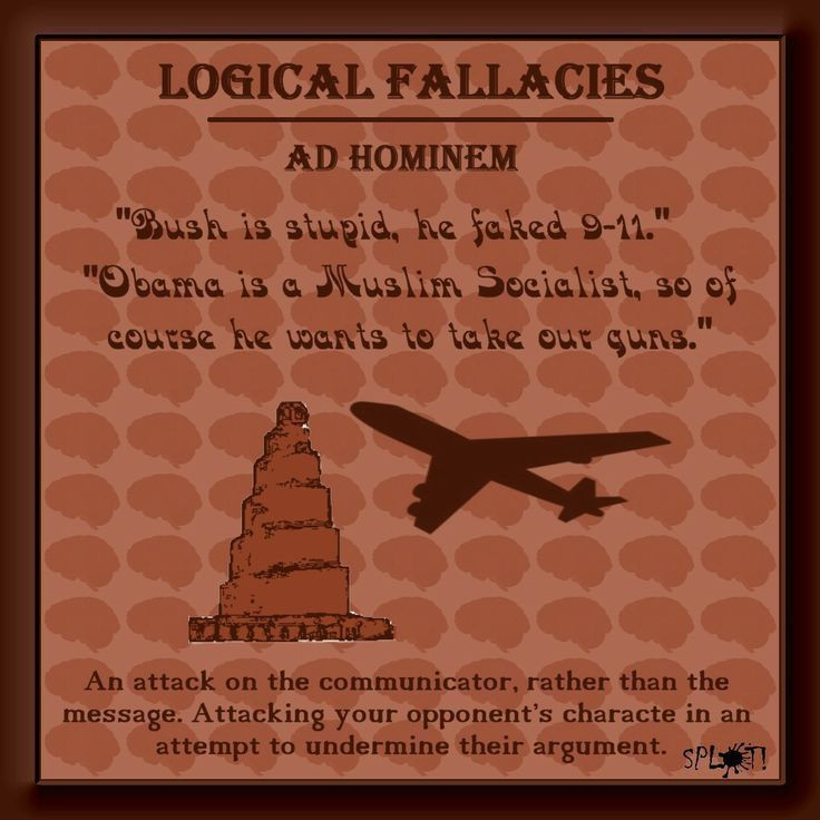 The Ad Hominem fallacy definition and examples. | Logic and ...