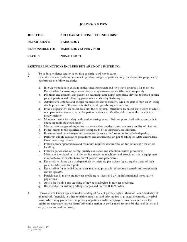 x ray technologist job description 17 resume sample x ray - X Ray Technologist Job Description