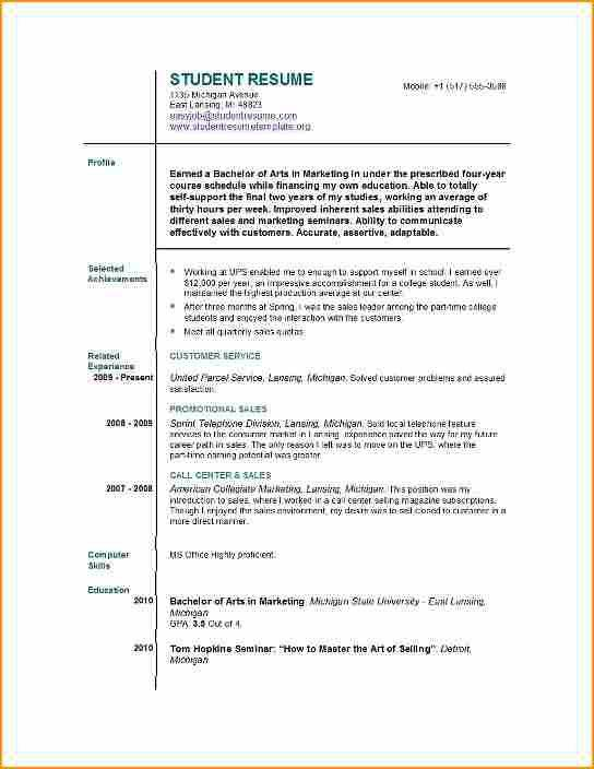student resume for a job - Basic Job Appication Letter