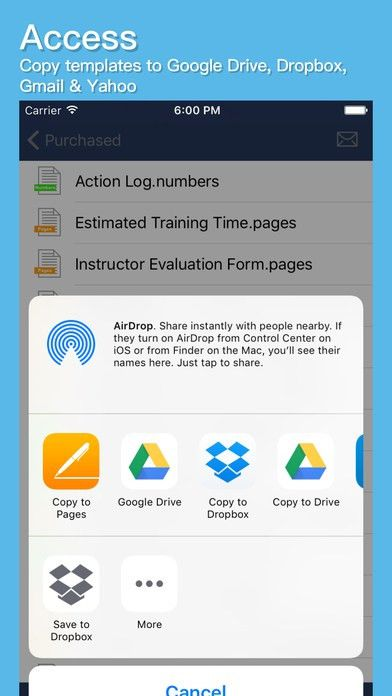 Apple iTunes template app - MS Office & iWork Pages/Number templates