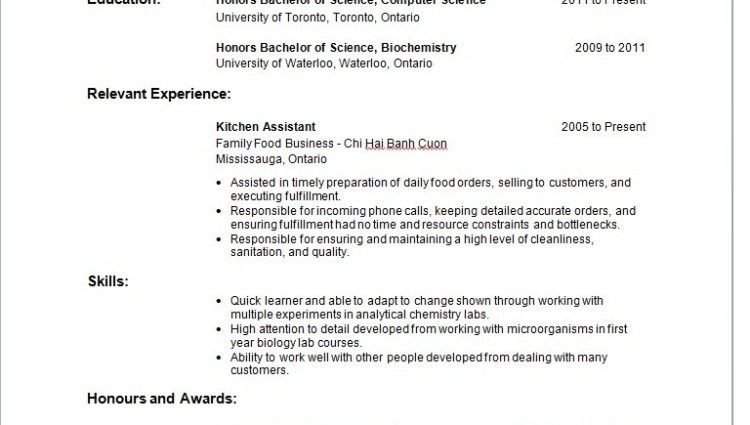 curriculum vitae waitress resume sample no experience objective ...