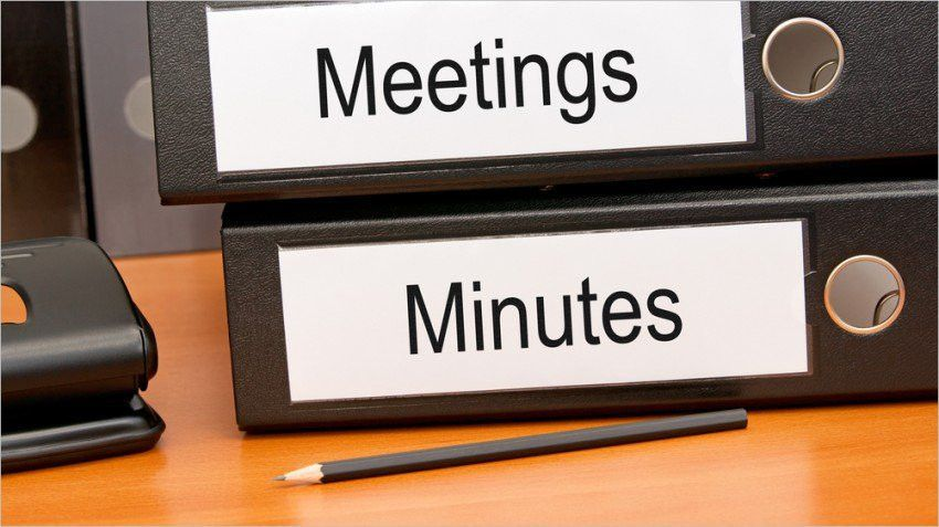 Proper Minutes Format | Jobs.billybullock.us