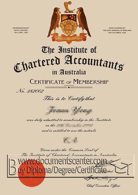 Buy a fake certificate of chartered accountants