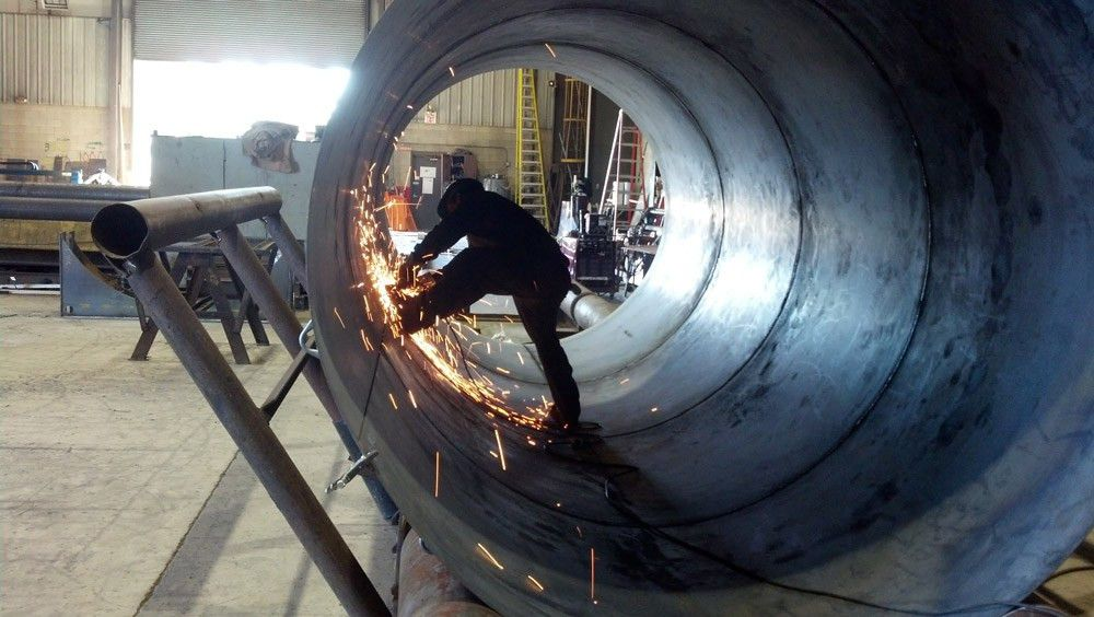 Welding prep in pressure vessel fabrication - The Fabricator