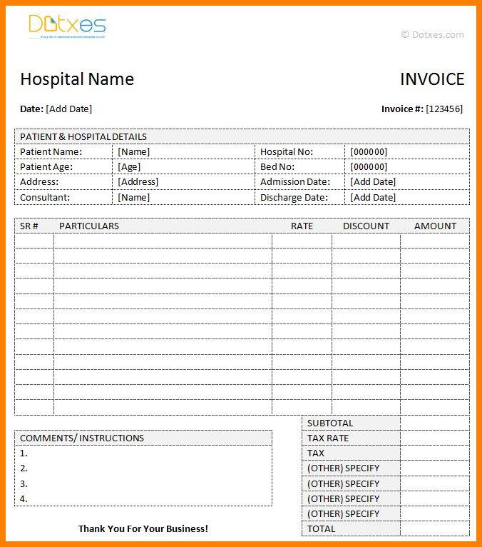 Download Bill Formats in Word | rabitah.net