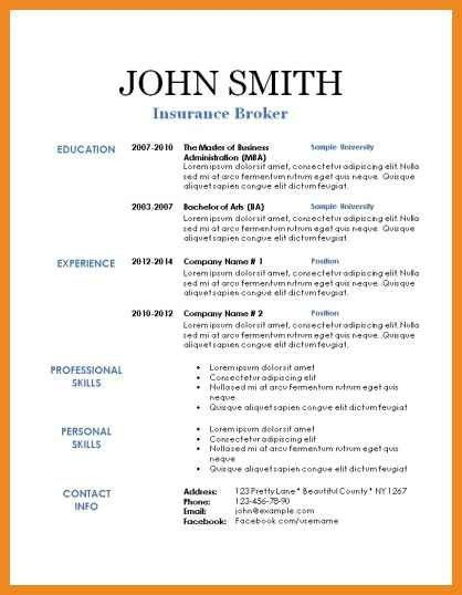 resume contact information | art resume examples