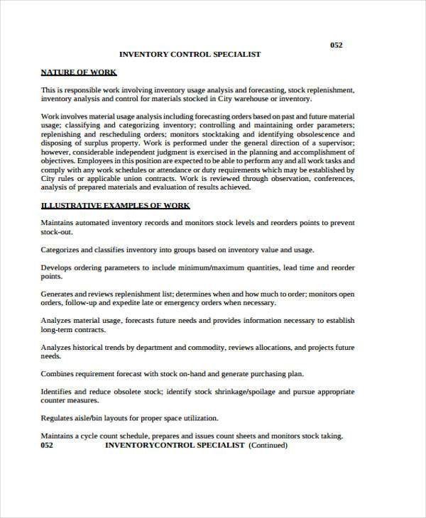 11+ Inventory Control Templates - PDF | Free & Premium Templates