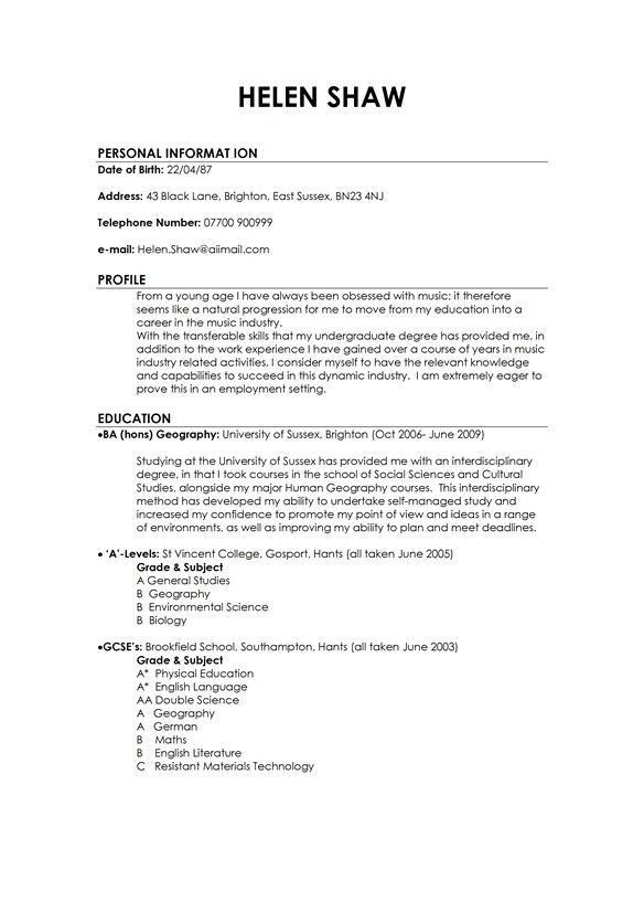 Example Of The Perfect Resume. A Perfect Resume Example Resume ...
