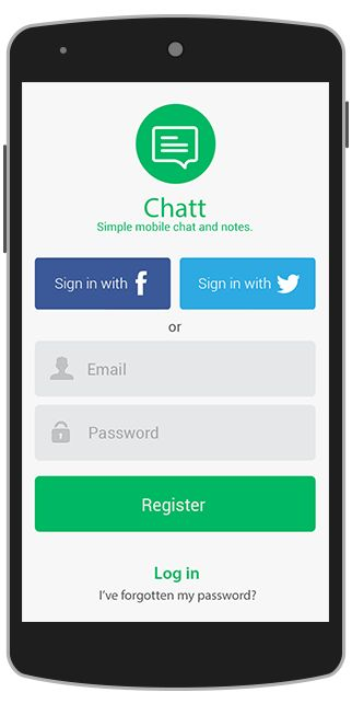 Chat App Design Template for Android - Java - Binpress