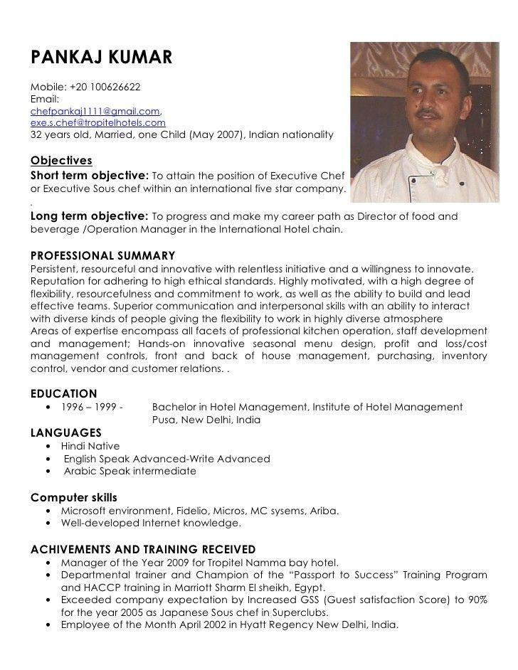 executive chef resume example httpresumesdesigncomexecutive chef ...