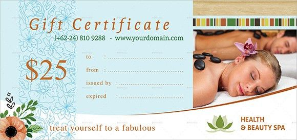6 Free Gift Certificate Templates - Excel PDF Formats