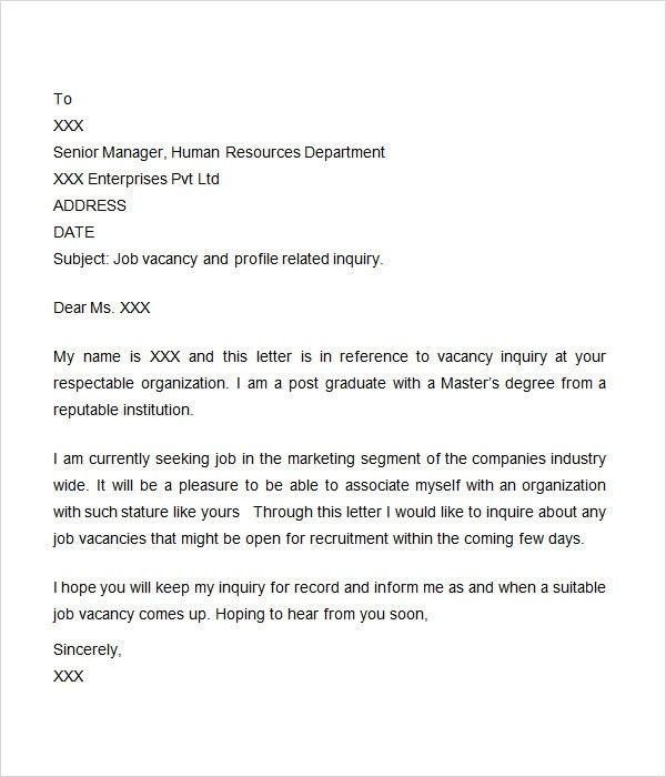 transportation operations manager cover letter sales inquiry ...
