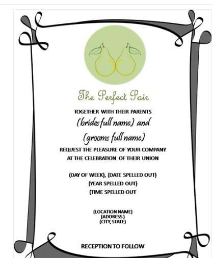 Invitations In Word Cards Officecom Wedding Invitation Templates – Invitation Templates for Word