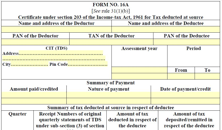 Income Tax Form 13 for Lower Deduction of TDS: Section 197