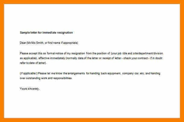 Resignation Letter For Unwanted Job.Employee Immediate Resignation ...