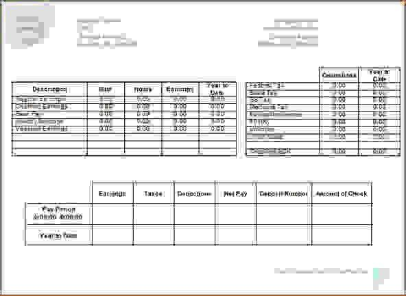 13 Pay Stub Template ExcelAgenda Template Sample | Agenda Template ...