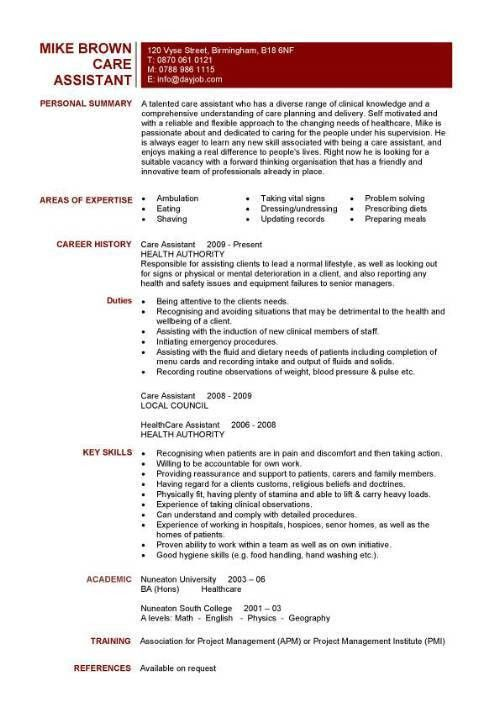 pca resume sample unforgettable personal care assistant resume