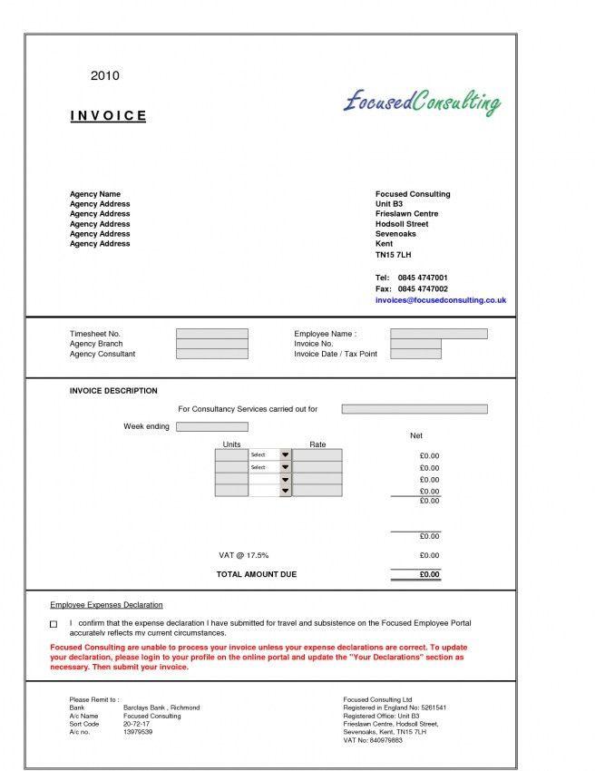 Download Consultancy Invoice Template Uk | rabitah.net