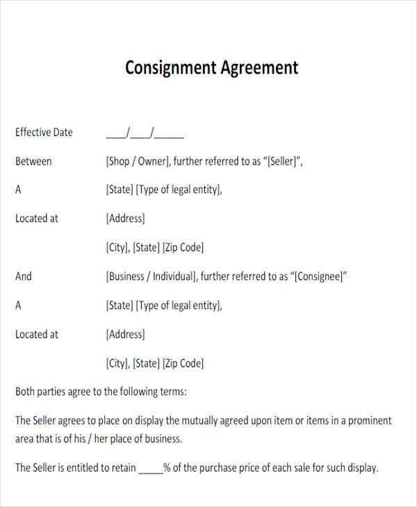 Agreement Form Examples