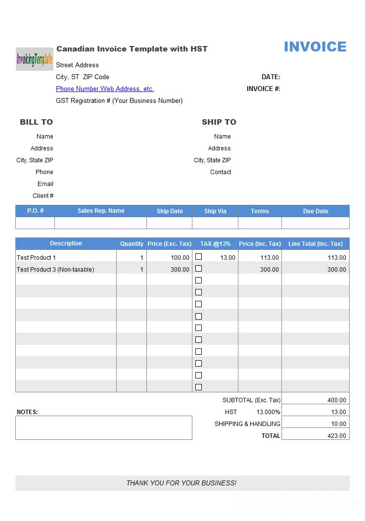 Singapore GST Invoice Template (Sales)