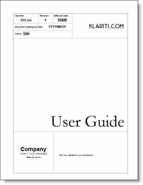8+ User Manual Templates - Word Excel PDF Formats