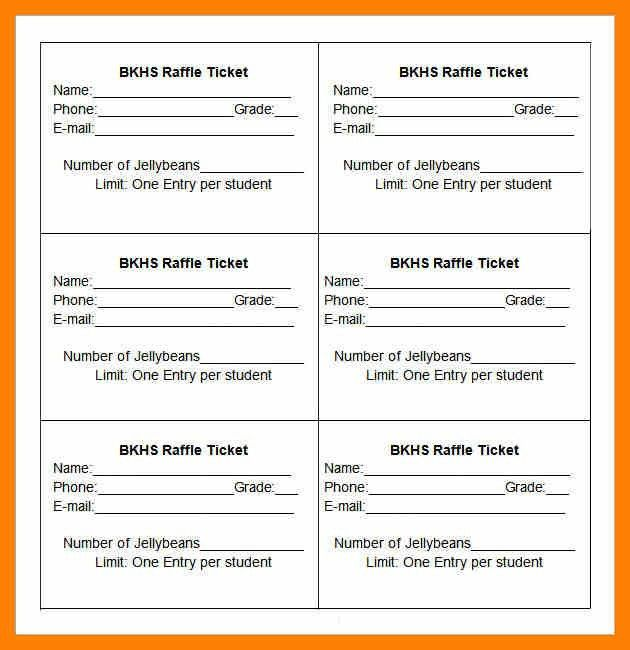 6+ raffle tickets template word | attendance sheet